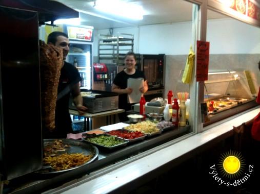 Stánek s občerstvením v Primorsku