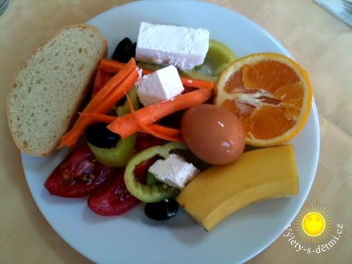 Snídaně formou švédských stolů v hotelu Belveder