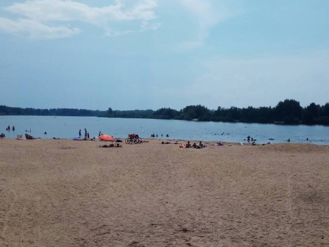 Pohled na Veselské pískovny