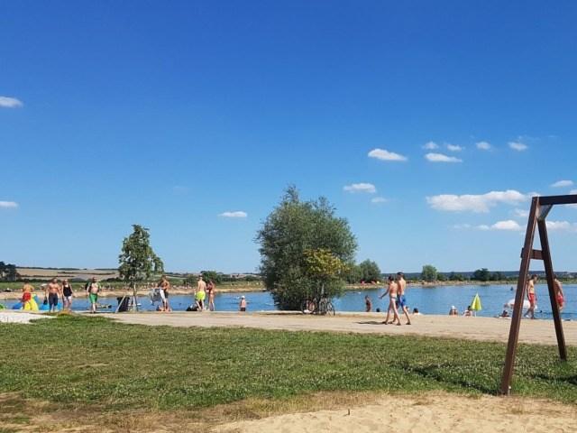 Jezero Konětopy - pohled na jezero
