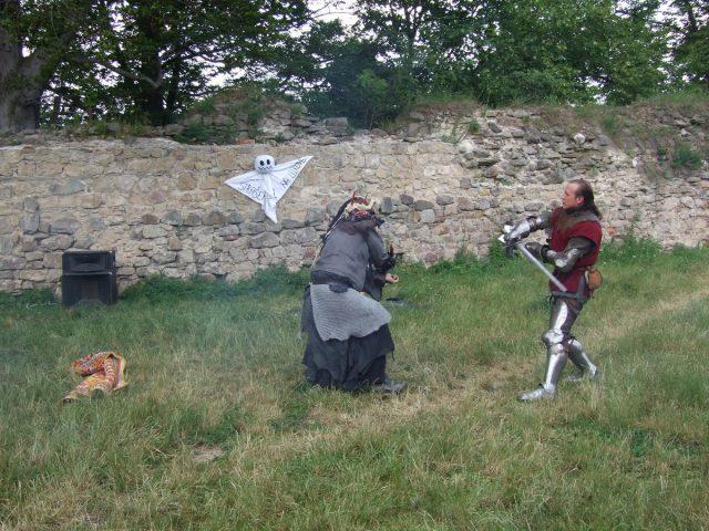 Rytířský souboj na hradě Lukov