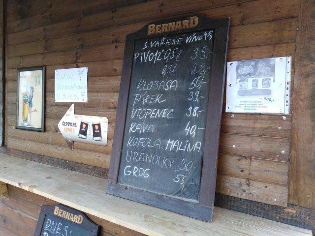 Nabídka občerstvení v Zooparku Milíčov