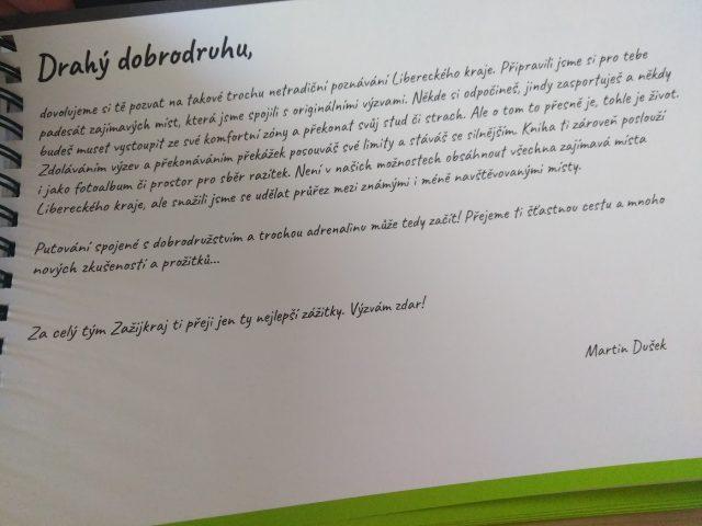 Předmluva ze zážitkového a cestovatelského průvodce zažij Liberecký kraj.