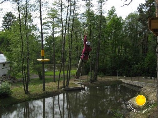 Lanový park – Slověnický mlýn
