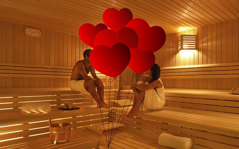 Valentýnské saunování v Aquapalace Praha