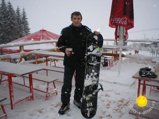 Snowboardování na Klínovci