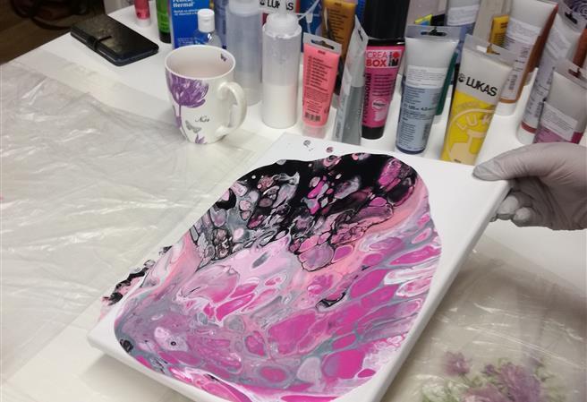 Tekuté malování o víkendu